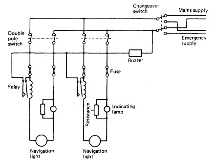 Navigational light circuit